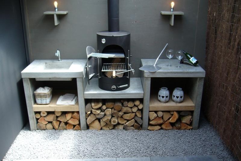 Houten Buiten Keuken : Unieke buitenkeuken van hout maatwerk buitenkeukenvanhout