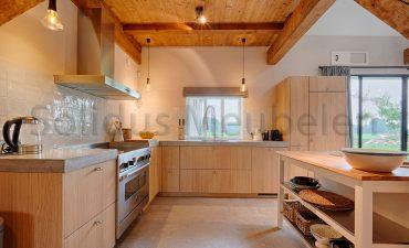 keuken eiken en beton