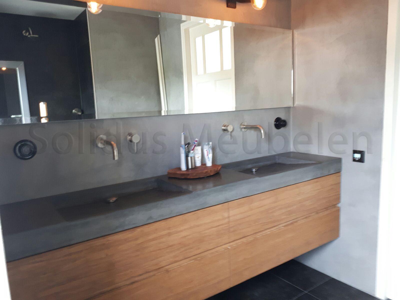 Betonnen Blad Badkamer : Solidus meubelen alles van beton op maat gemaakt