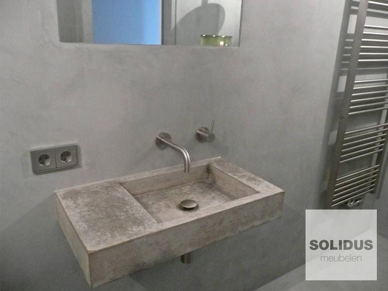 Wastafels van beton u solidus meubelen