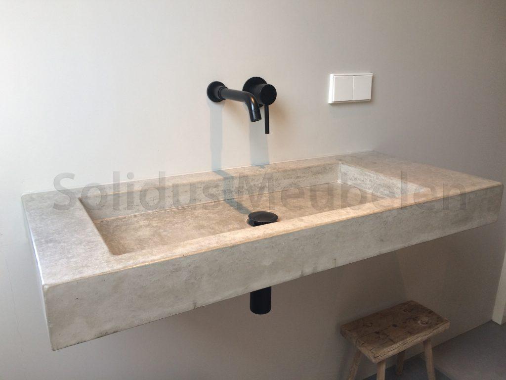 Wastafel Van Beton : Wastafel van beton solidus meubelen